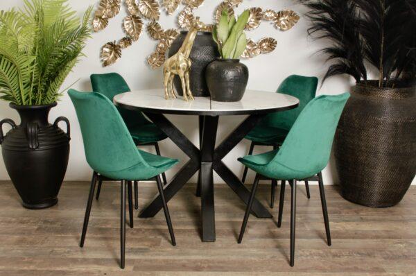 Leaf chair emerald green 9