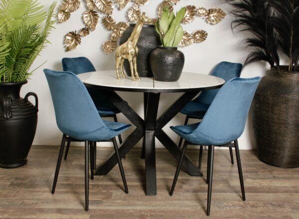 Leaf chair ocean blue 8