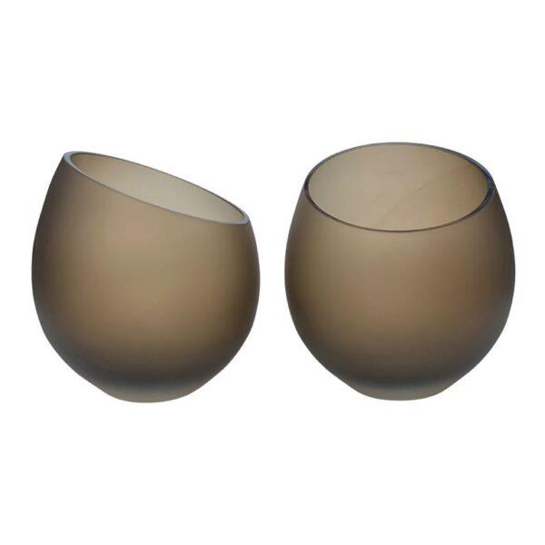 vase the world moho vazen h 15 x 15 5 cm set van 2 satin topaz
